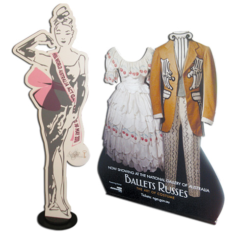 Lifesize cutout displays from Wild Digital printed on 10mm thick forex.