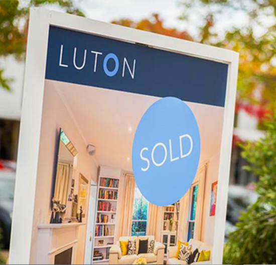 Printed corflute signage for Luton Real Estate