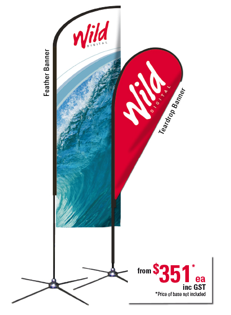 Marketing and promotional Flags from Wild Digital