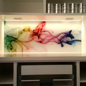 Printed glass splashback from Wild Digital