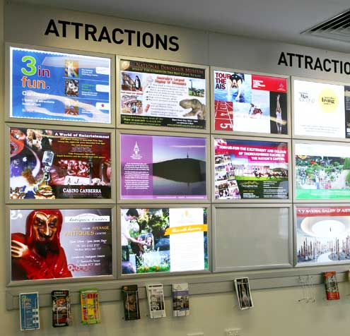 Lightboxes printed by Wild Digital