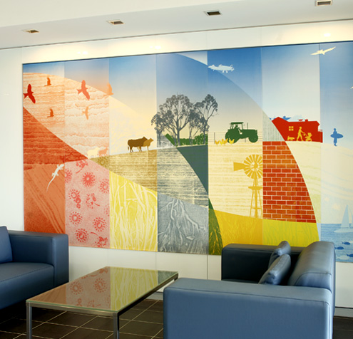 Printed foamex wall panels from Wild Digital.