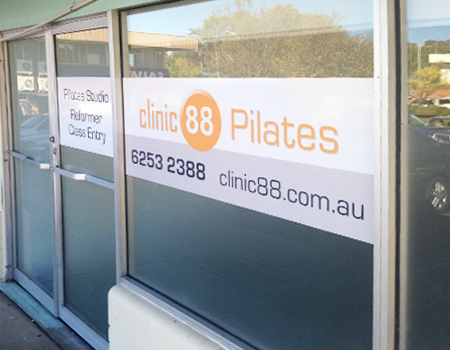 Printed self adhesive vinyl window signage from Wild Digital.