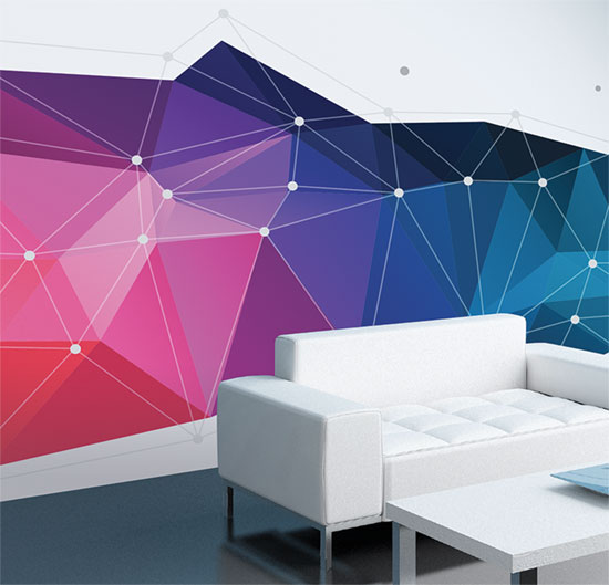 Removable custom printed wallpaper from Wild Digital